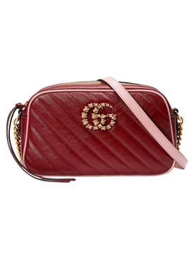 GG Marmont Small Shoulder Bag Red