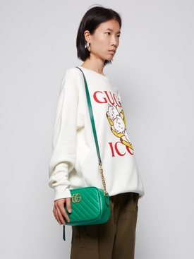 GG Marmont Small Shoulder Bag Green