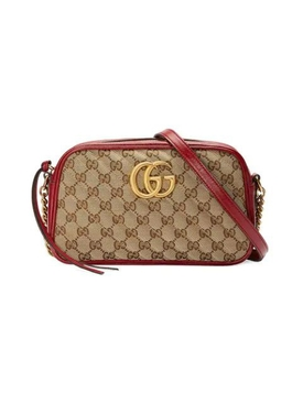 Gucci - Small Gg Marmont Camera Cross-body Bag Beige/ New Cherry Red - Women