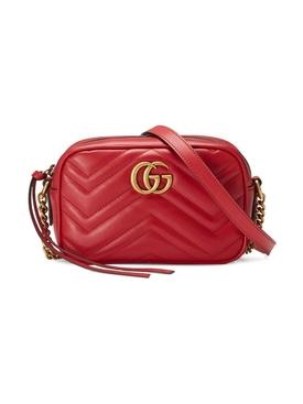 GG Marmont matelassé mini shoulder bag RED