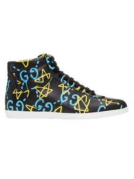 GG Star Print High-Top Sneakers