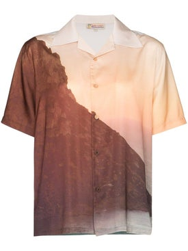 Esteban Cortazar - Sunset Print Short-sleeve Shirt - Women