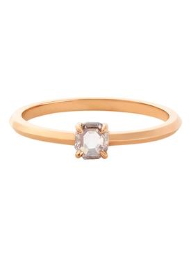 18k rose gold single stone prism band