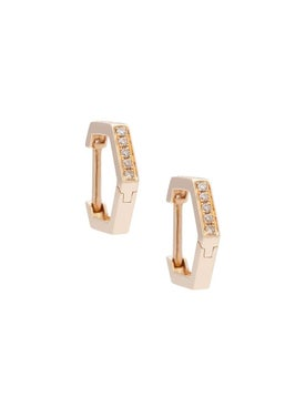 Eva Fehren - Rose Gold Geometric Hoops - Women