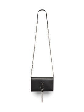 KATE CHAIN WALLET WITH TASSEL BLACK
