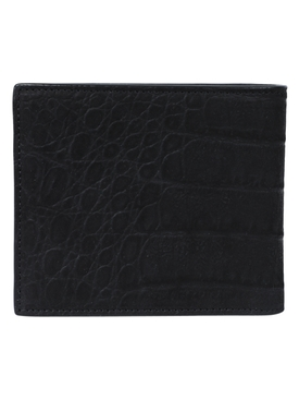 Black and silver logo wallet
