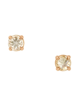 18kt rose gold solitaire stud earrings
