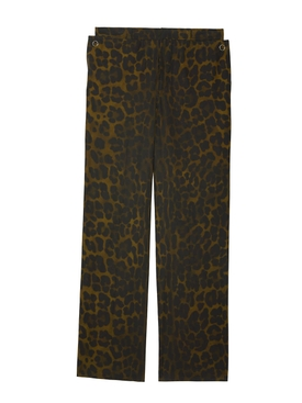 Leopard print trousers Brown