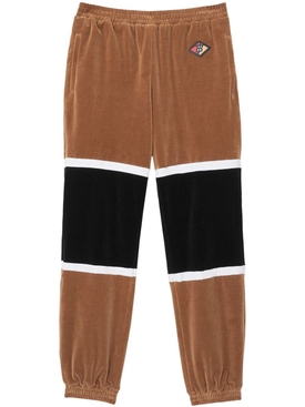 Logo Graphic Striped Chenille Trackpants