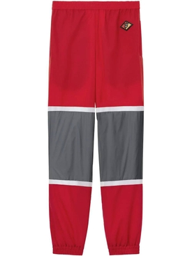 Logo Graphic Striped Nylon Trackpants