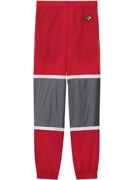 Burberry - Logo Graphic Striped Nylon Trackpants - Men