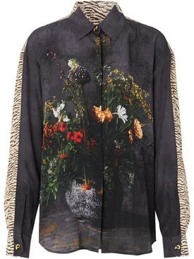 Burberry - Floral And Leopard Print Silk Shirt - Men