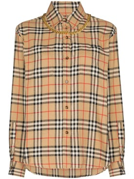 Burberry - Classic Checked Shirt With Chain Necklace - Men