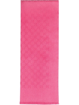 monogram cashmere scarf fuchsia