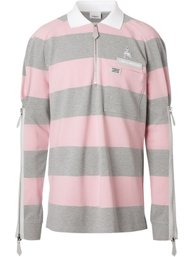 Burberry - Light Grey And Pink Striped Shirt - Men