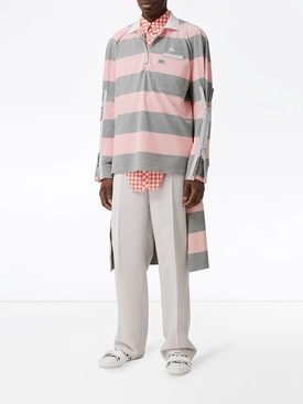 Light Grey and Pink Striped Shirt