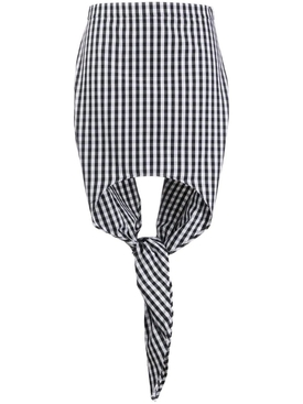 Burberry - Scarf Detail Gingham Mini Skirt - Women