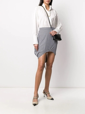 Scarf detail gingham mini skirt