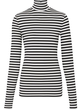 Black and White Mock Collar Jumper