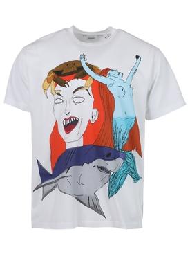 Sea Maiden Print T-shirt