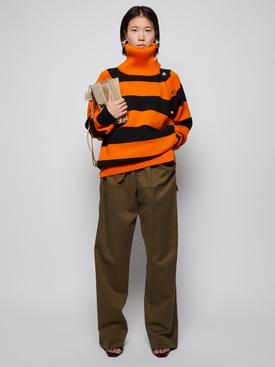 Black and orange striped fisherman jumper