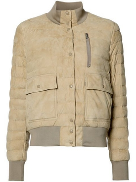 Beige Quilted Sile Jacket