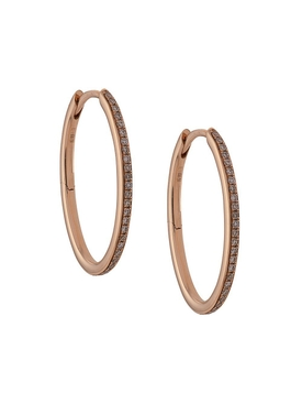18K Rose Gold Small Eternity Hoops