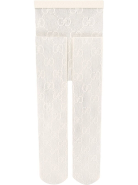 GG Pattern Tights, White