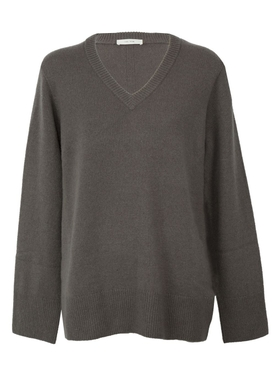 Elaine V-neck sweater GREY