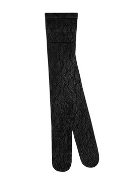 supreme sheer logo tights black