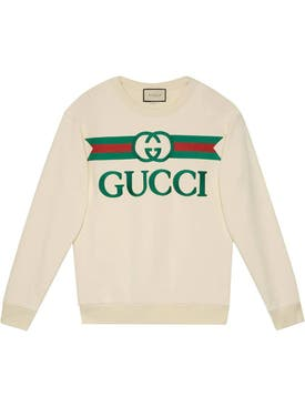 Gucci - 1980's Logo Sweatshirt Off-white - Women