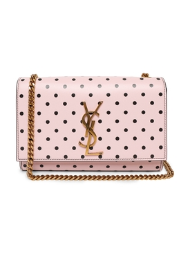 Pink and Black Polka Dot Small Kate Bag