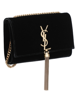 Black Suede Kate Shoulder Handbag