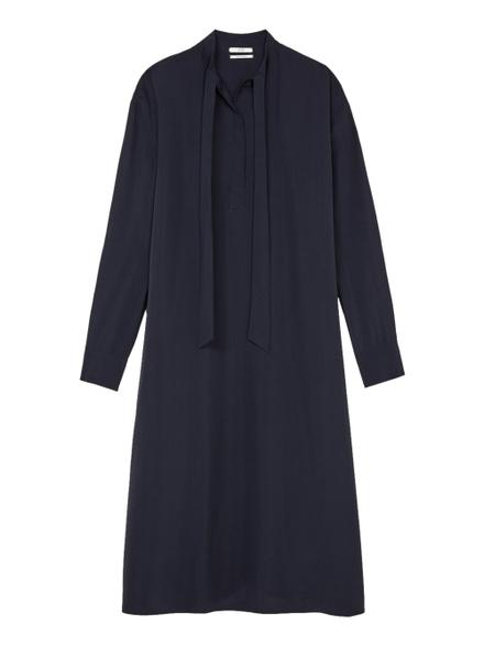 Co Tie Neck Maxi Dress