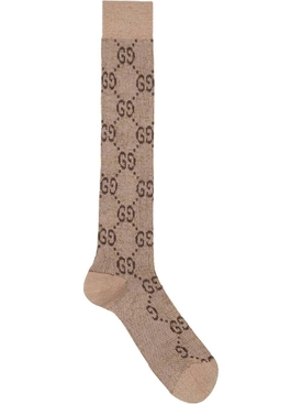 GG Supreme mid-calf socks BROWN