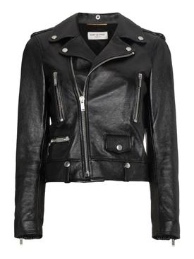 Classic Motorcycle Jacket, Black