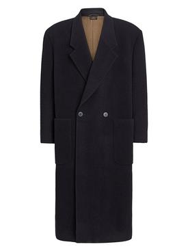 FEAROFGODZEGNA black double-breasted wool coat