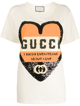 I Know Everything About Love Sequined T-shirt
