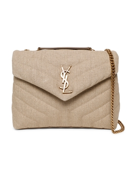 Small Loulou shoulder bag, natural beige