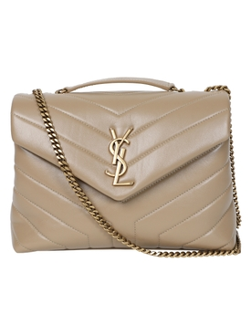 Saint Laurent - Tan Loulou Quilted Shoulder Bag - Women