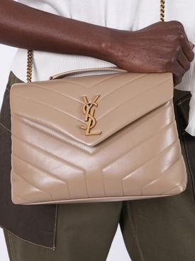 Tan Loulou Quilted Shoulder Bag