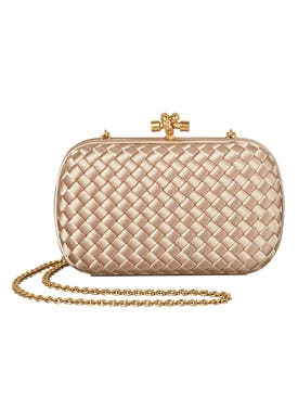 Bottega Veneta - Chain Knot Intrecciato Clutch - Women