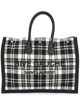 Black and white Rive Gauche tote bag