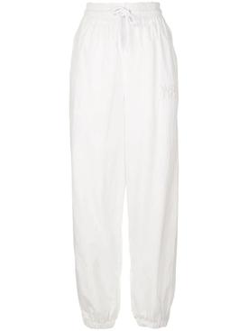 White Jogger Track Pants