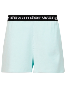 Corduroy shorts Clear water blue