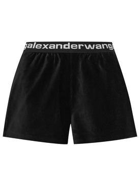 STRETCH LOGO BAND CORDUROY SHORTS BLACK