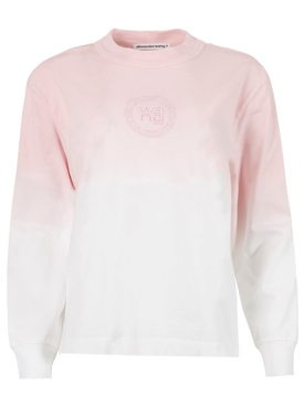 Embroidered Logo Ombre T-shirt, Primrose Pink