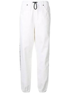 Optic white track pants