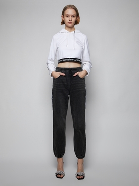 Grey Aged Track Pant