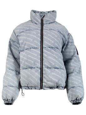 Pebble bleach puffer jacket